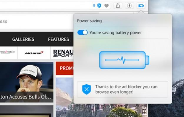 Функция экономии заряда батареи в opera увеличивает время автономной работы ноутбука и предотвращает его перегрев