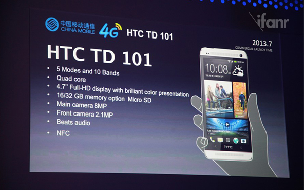 Htc one для китая имеет 8-мп камеру и слот microsd