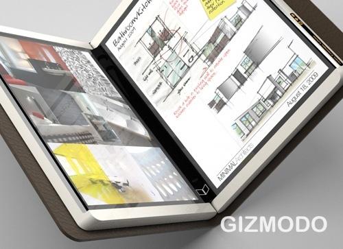 Microsoft courier - планшетник с двумя мультисенсорными дисплеями