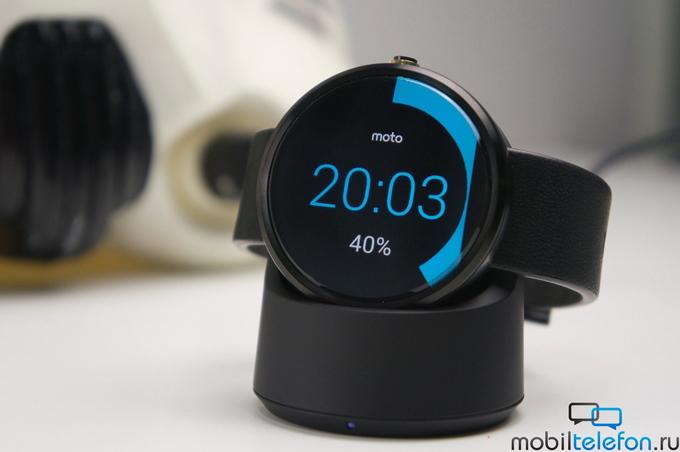 Motorola исправила проблему с потреблением заряда в moto 360