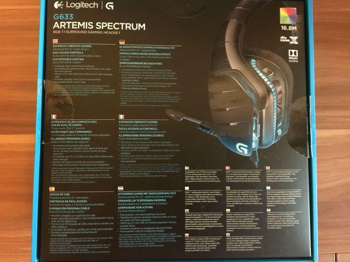 Обзор игровой гарнитуры logitech g633 artemis spectrum