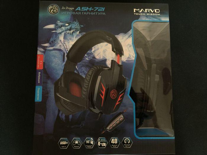 Обзор игровой гарнитуры marvo ash-721