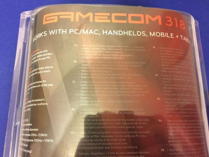 Обзор игровой гарнитуры plantronics gamecom 318