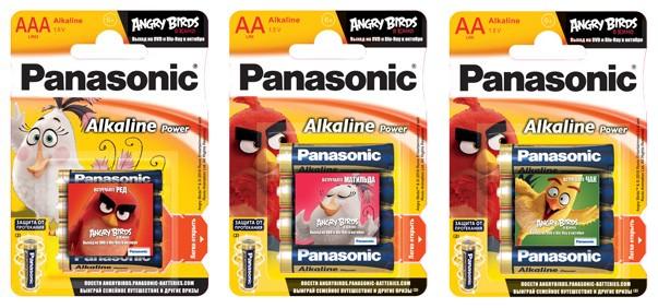 Panasonic продолжает выпуск лимитированной серии батареек «angry birds в кино»