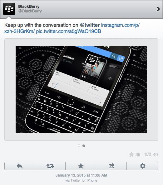 Пиарщики blackberry пользуются iphone