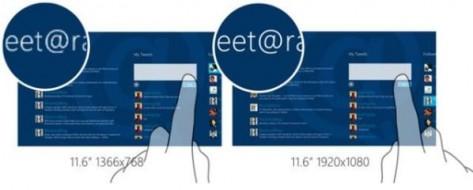 Планшеты на windows 8 могут получить дисплеи класса retina