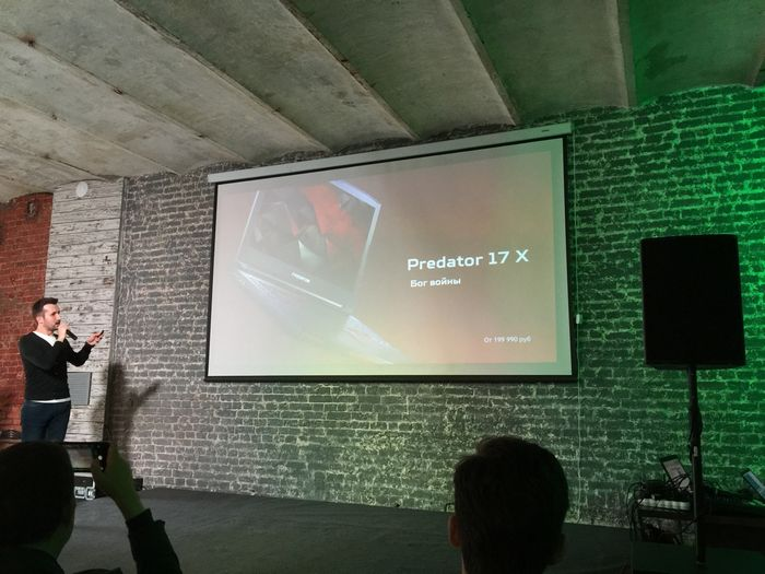 Презентация predator 17 x и других ноутбуков компании acer