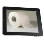 Только 35% пользуются планшетом в ванной (туалете), а остальные, наверное, лгут