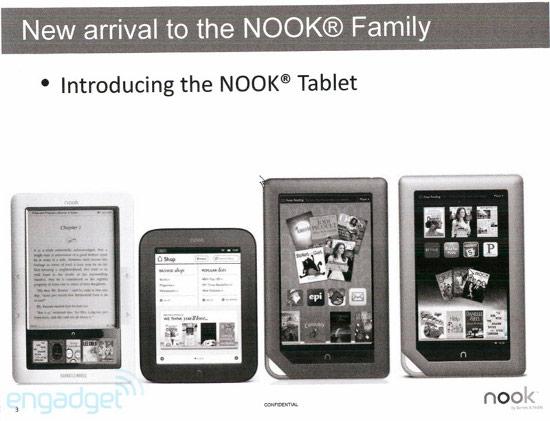Утекшие слайды рассекретили планшет barnes noble nook tablet и не только