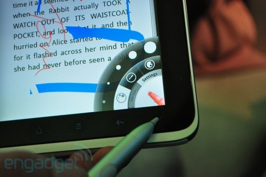 Возможности планшета htc flyer по вводу стилусом изучили поподробнее